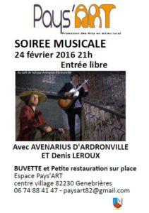 Grande Soirée Pays'ART ... à Genebrières (82)
