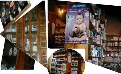 Notre première visite a été pour la pharmacie. C'est madame Bouzon qui nous a reçu et a répondu à nos question