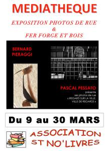 C'est encore une fois pour un double plaisir des yeux que l'association ST NO'LIVRES propose 2 arts différents à la médiathèque de Saint-Nauphary.