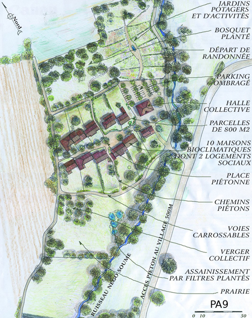 Plan de masse - Eco hameau - Verfeil sur Seye