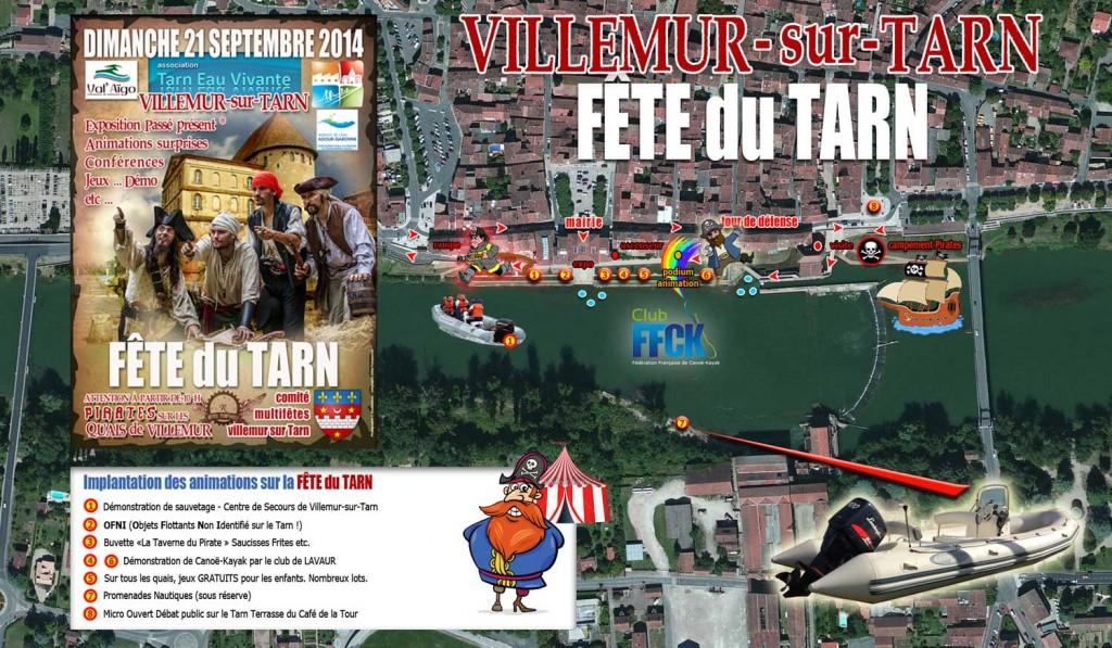 Fête du Tarn 2014 - Plan