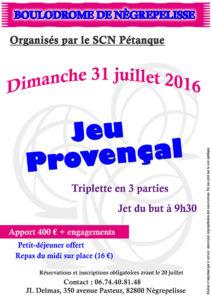 Jeu Provençal à Nègrepelisse (82)