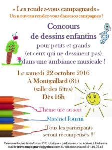 Concours de dessins enfantions à Montgaillard (81)
