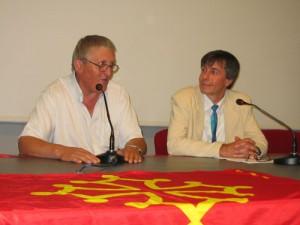 Robert Linas et son ami le Professeur  Peter CICHON