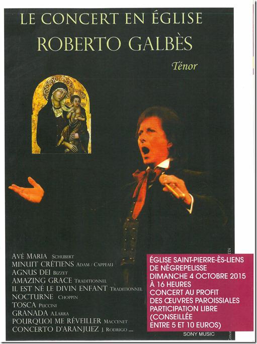 Roberto Galbès en concert à Nègrepelisse (82)