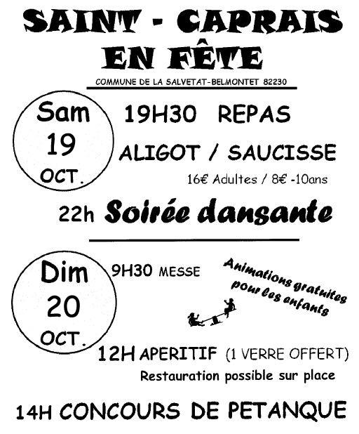 Fête de Saint-Caprais 2013
