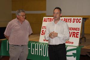M. le Maire, Frédéric Kerestedjian et Robert Linas, organisateur, Président d'Autriche et Pays d'Oc.