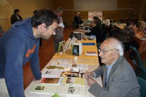 Rencontre intergénérationnelle entre l'écrivain et homme d'action , le centenaire Nadal Rey et le jeune militant occitaniste du Grelh Roergàs Lugan Bedel.