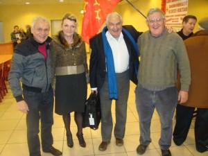 Roger Cavalié, Marc Galabru et sa compagne, Robert Linas - Salon du Livre de Nègrepelisse 2014