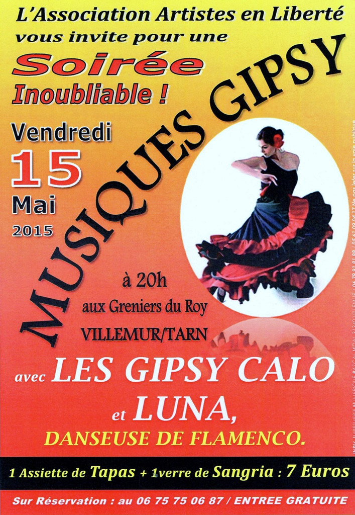 Musiques Gipsy à Villemur sur Tarn (31)