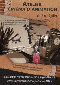 Stage Film d'animation  ... à Salvagnac (81)