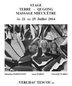 Stage Terre - Qi Gong et Massage Mieux-Être à Verlhac Tescou (82)