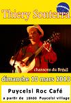Thiery Sonterra  en concert au Puycelsi Roc Café