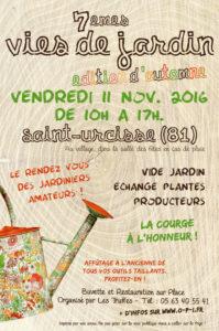 Vies de Jardin - Automne 2016 - Saint-Urcisse (81)