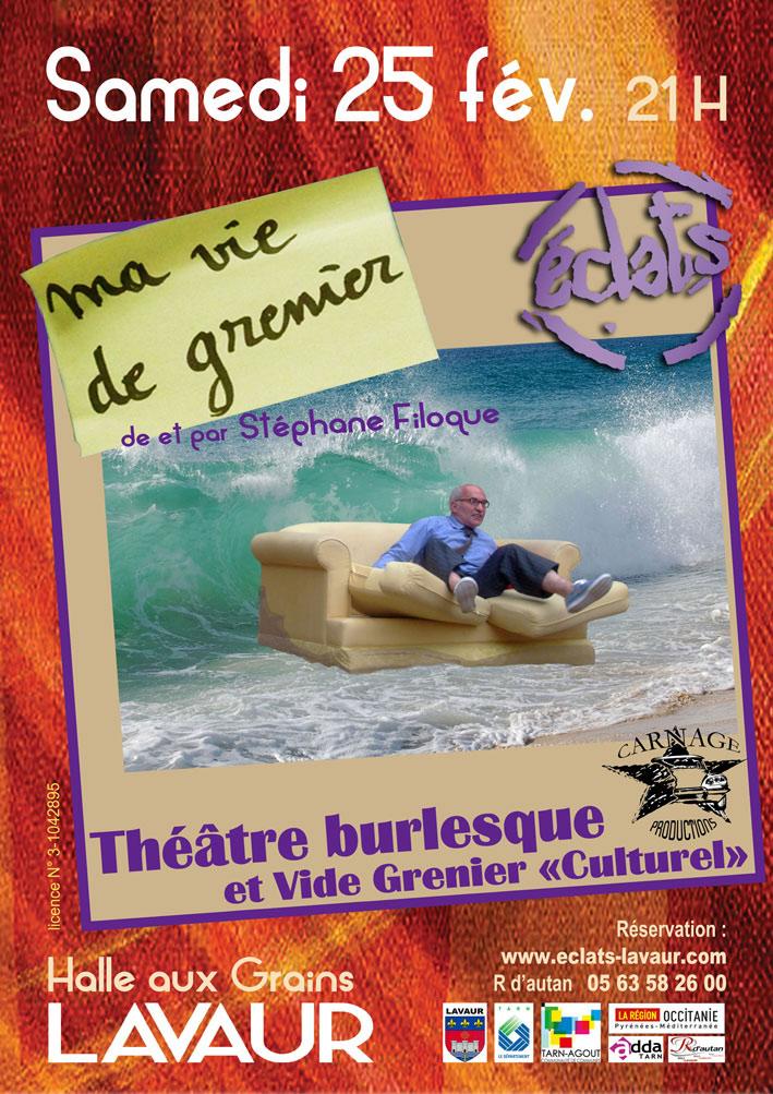 Ma vie de grenier : une comédie burlesque au cœur de l'hiver ... à Lavaur (81)